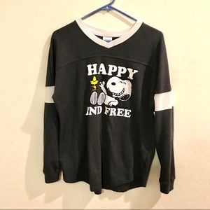 Snoopy Happy And Free Sweater XL